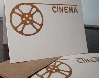 Cinema Film Reel - 12-Pack Gocco Screen-Printed Greeting Cards