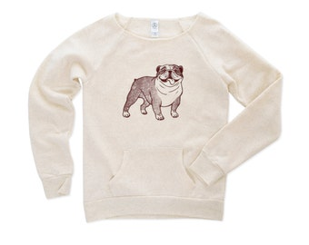 Snort...Snort... English Bulldog Sweatshirt - Bulldog Sweater - English Bulldog Shirt - Dog Sweater - Dog Tshirt - Animal Sweater