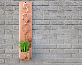 House Number Plaque | House Number Planter | Address Planter | Address Plaque with Planter | Address Number Plaque | Address Number Planter
