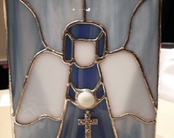 Angel Stained Glass Candle Holder