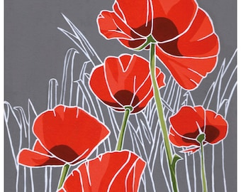 Poppies: Flower print 8x10