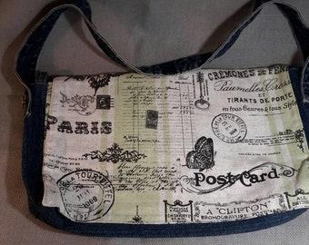 Handmade wide Shoulder bag.