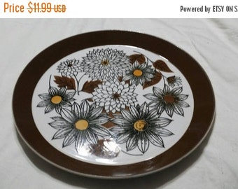 On Sale Collectible China Mikasa Duplex by Ben Seibel Frolic Pattern  Dinner/Chop 10 inch Serving Plate Made in Japan