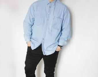 Levi Strauss Jeans men's branded denim shirt from levis size l-xl