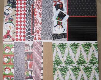 12 Sheets Cute 12 X 12 Scrapbook Paper CHRISTMAS HOLIDAY Tree Crafting B