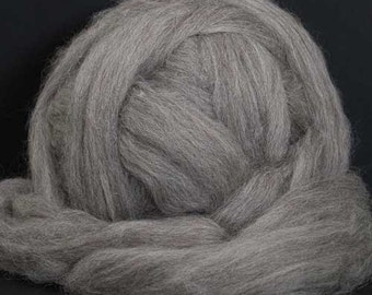 Shetland Wool Top - Grey - 16 oz