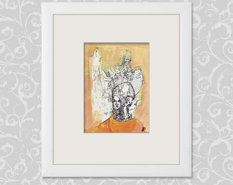 Burst DIN A6 (h b 14.8 x 10.5 cm / 5.85 x 4.13 inch) painting & drawings abstract
