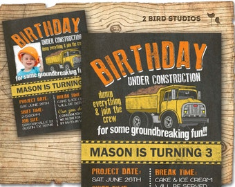 Construction birthday Construction party signs