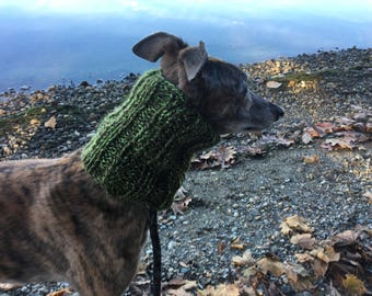 Greyhound Snood - Style #2 - Various Colors Available - (Dog Scarf, Hat, Neck Warmer)