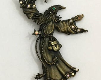 Wizard Pin with Crystal