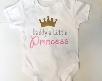 Daddy's Little Princess or Prince Baby Babysuit