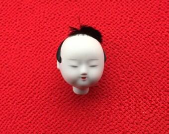 Japanese Doll Head Man's Head - Small Size (D14-5)