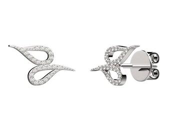 Double drops earrings - silver