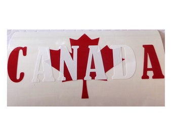 CANADA MAPLE LEAF Vinyl Decal, Canadian Stickers, Canada, Maple leaf, Canuck Decal, Canadian Pride, Canadian Decal, Maple Leaf Decal