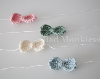 Baby Bow Headband, Newborn Tieback, Baby tieback, Newborn bow headband - newborn photo props, Newborn props