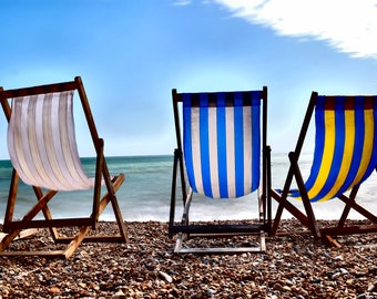 Brighton Beach Chairs, Brighton Beach, UK, Travel, Fine Art Photography, Long Exposure, Brighton, Brighton Pier