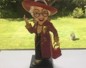 Biddys Westland Giftware Attitude Comical Elderly Lady Figurine