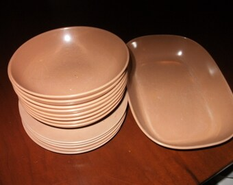Mid Century Melamine Dishes and Bowls