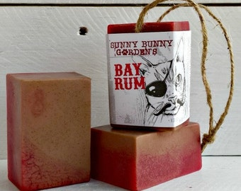 Organic Bay Rum Soap-On-A-Rope, Manly Soap, Homemade Soap Men Love, Handmade Bay Rum Soap, Gifts For Dad, Gifts For Husband, Vegan Mens Soap