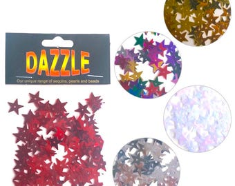 Dazzle Star Sequin Spangles 13mm - 110 pcs