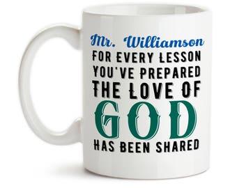 Coffee Mug, Sunday School Teacher Gift, Pastor Gift, The Love Of God, Christian Teacher, Christian School, Gift Idea, Large Coffee Cup