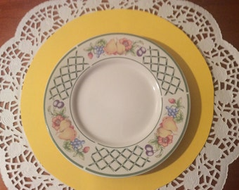 SALE! Set of 8 Botanica pattern by Signature Stoneware - side plates
