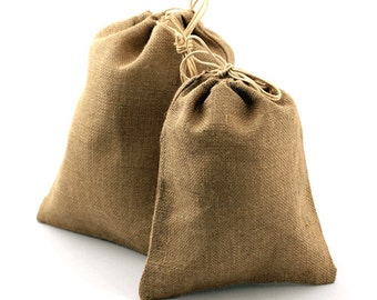 """Natural Jute Party Bags - 10"""" x 12"""" (10 Pack)"""