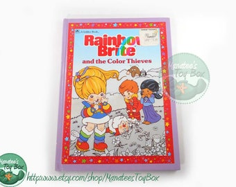 80s Rainbow Brite Book: The Color Thieves Hardcover