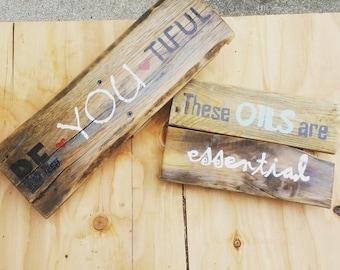 Essential Oils I Pallet Wood Sign I Pallet Decor I Rustic I Farmhouse I Wood Work I Custom