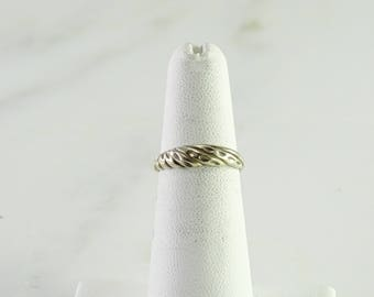 Sterling Stack Ring Size 5 (bb)
