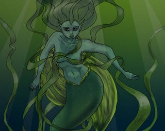 The Seaweed Woman art print