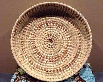Round Sweetgrass Basket