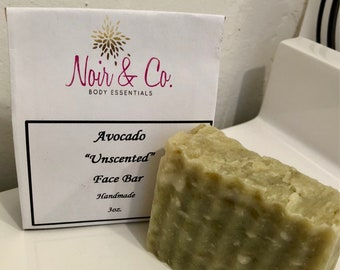 Unscented Avocado Face Cleansing Bar, Bar Soap, Body Soap
