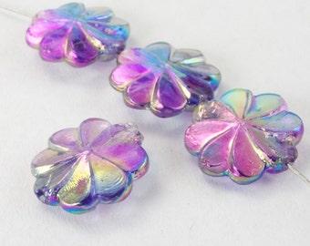 10mm Light Amethyst AB Pinwheel Flower (12 Pcs) #2508