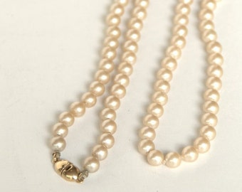 Faux Pearl Necklace, Vintage Pearl Necklace, Monet Necklace, Vintage Necklace, Faux Pearls, Long Necklace