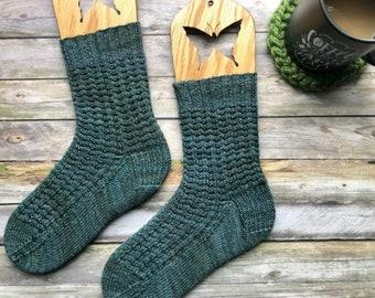 Knitting Pattern for Socks, Sock Pattern, PDF Knitting Pattern, Instant Download, Knitting Pattern Socks, Cuff Down Sock Pattern, Top Down