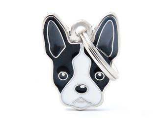 My Family Custom Engraved Dog Tag - Boston Terrier