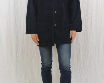 Vintage Oversized Corduroy Jacket, Size Medium, Navy Blue, Grunge, My So Called Life, 90's Clothing, Indie Clothing, Tumblr Clothing