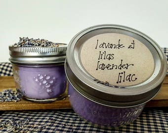 Lavender lilac Soy candle