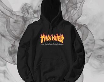 Thrasher Logo Unisex Hoodie Graphic