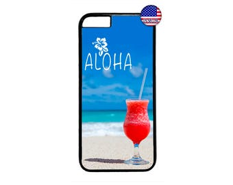 Aloha Hawaii Hawaiian Beach Hard Rubber TPU slim Case Cover for iPhone X 8 7 6 6s PLUS 5 5s SE 5C 4 4s iPod Touch 4 5 6