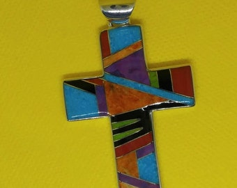 All Faith in Him Handcrafted Cross Pendant