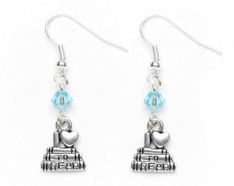 I Love to Read Earrings | Book Earrings | Dangle Earrings | Reader's Earrings | Book Lover's Gift Idea