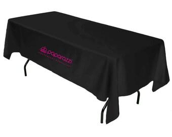 Black Paparazzi Tablecloth