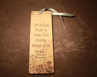 Wooden bookmark,Quote Bookmark , Bookmarks, Wood Bookmark, Wooden Bookmark, Unique Bookmarks