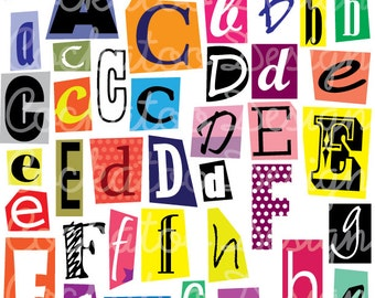 Ransom alphabet font text halloween creepy cut out letters 50 off digital aphabet spy party clipart cutout letters magazine letters magazine cutouts abc digital clipart commercial use spiritdancerdesigns Images