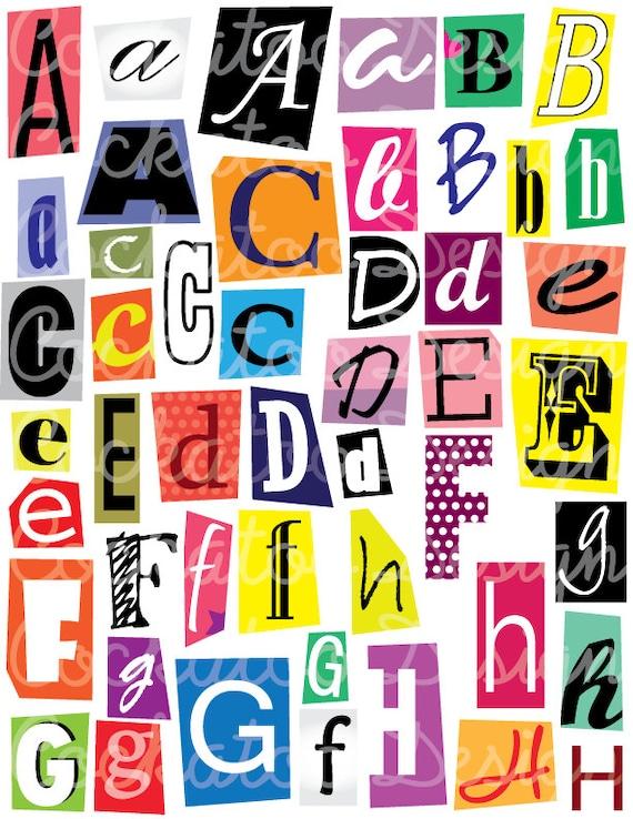 Magazine letter font acurnamedia magazine letter font spiritdancerdesigns Choice Image