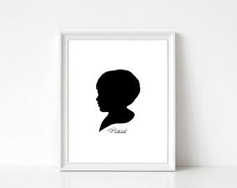 16 Color Options, Custom Silhouette, Child Silhouette, Silhouette, Children Silhouette, Silhouette Portrait, Custom Portrait, Personalized