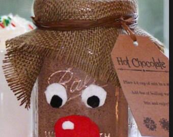 Reindeer Hot Chocolate in a jar