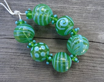 Margarita Hollows - SRA handmade glass lampwork beads Lori&Kim